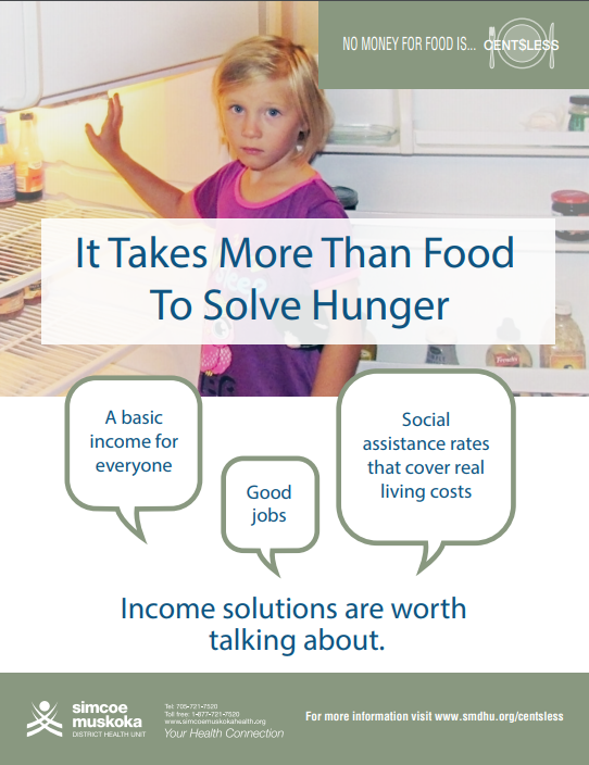 SMDHU Poster It Takes More Than Food to Solve Hunger